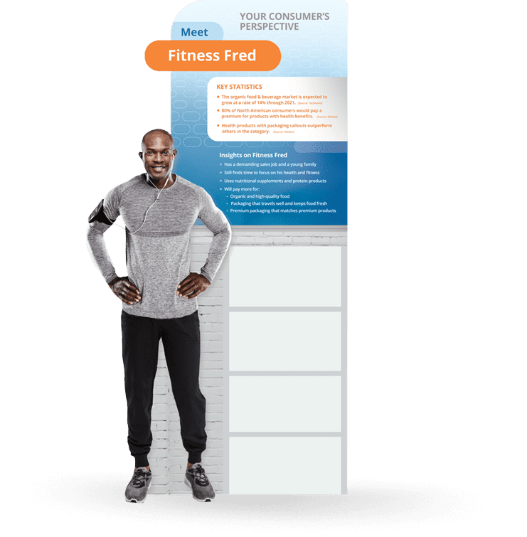 PACK EXPO 2018 Fresh-Lock's Tradeshow Booth Persona Fitness Fred