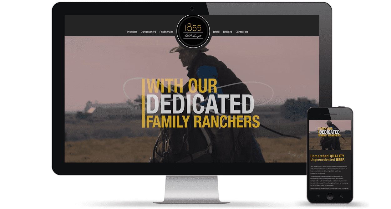 1855 Beef Website by Element