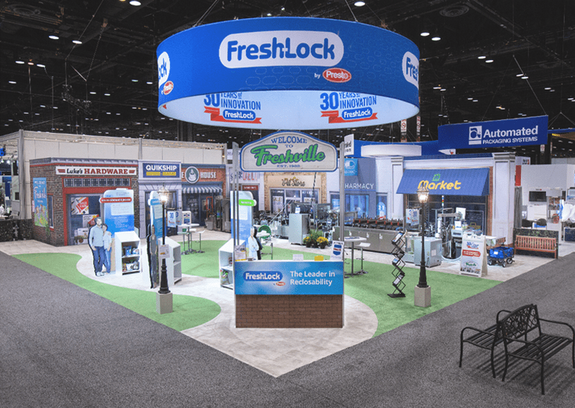 PACK EXPO 2018 Fresh-Lock's Tradeshow Booth Welcome to Freshville