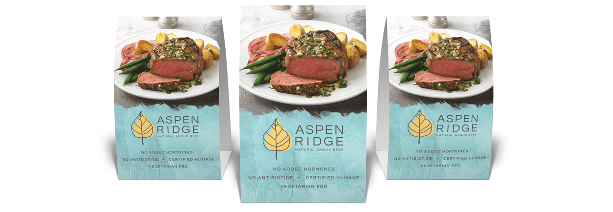 Aspen Ridge table tents by Element