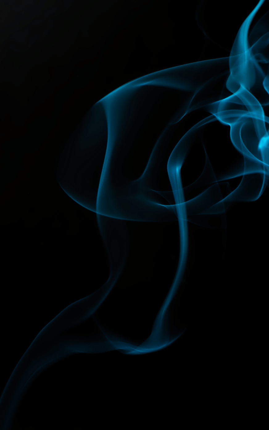 blue smoke against a black background